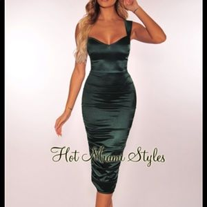 Hunter green dress